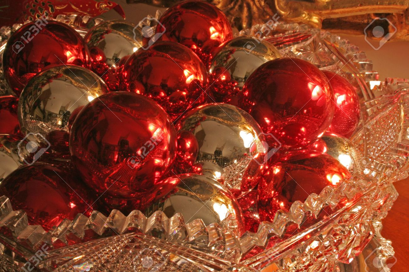 Red And Silver Christmas Ornaments