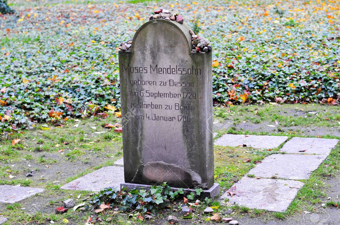Jewish Cemetery At Grosse Hamburger Strasse In Berlin Germany Moses Mendelssohn At The Jewish Cemetery At Grosse Hamburger