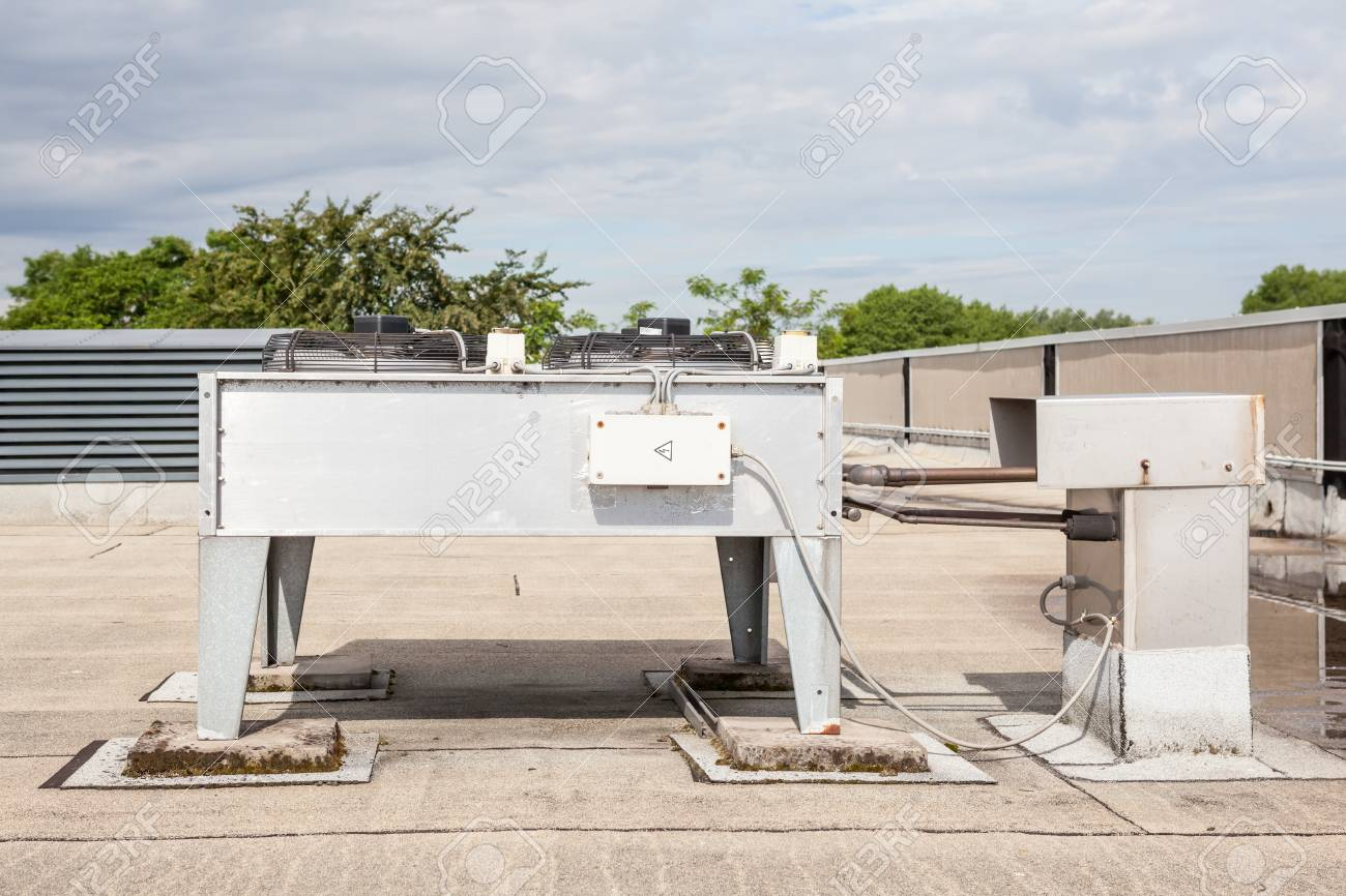 Eine Klimaanlage Stock Photo