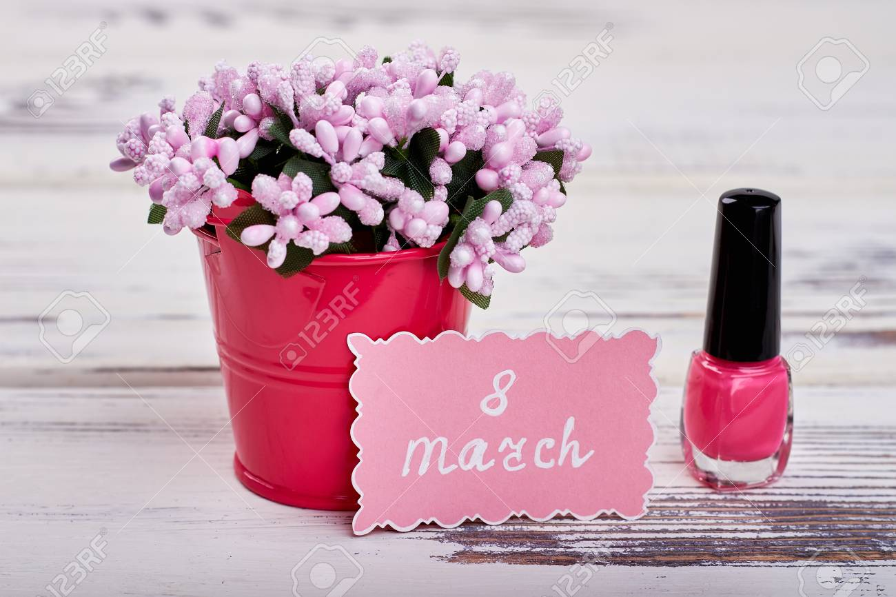 Nagellack Blumen Stock Photo