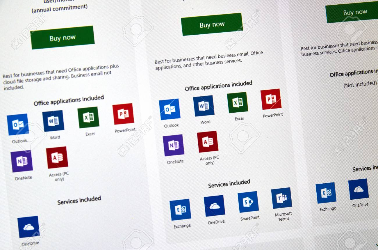 Mircrosoft Office 365 Montreal Canada January 10 2019 Microsoft Office 365 Icons
