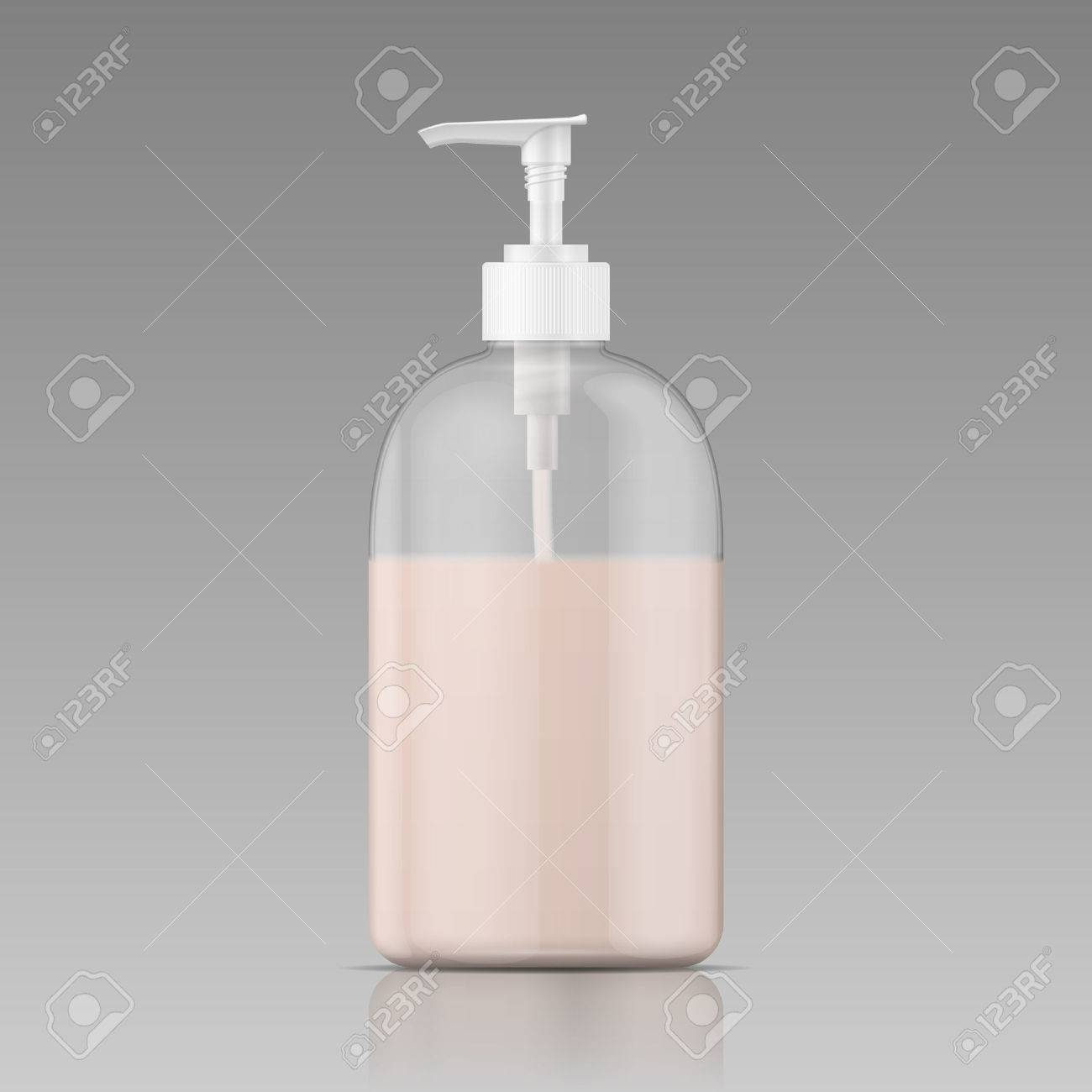 Soap And Shampoo Dispenser Plastic Bottle With Dispenser Cap With Liquid Soap Shampoo