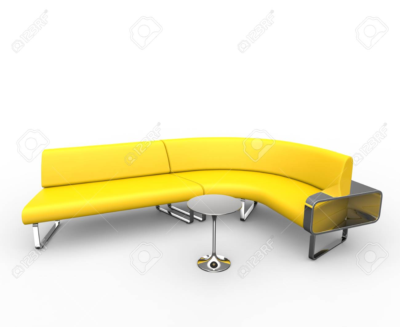 Curved Sofa Yellow Curved Sofa