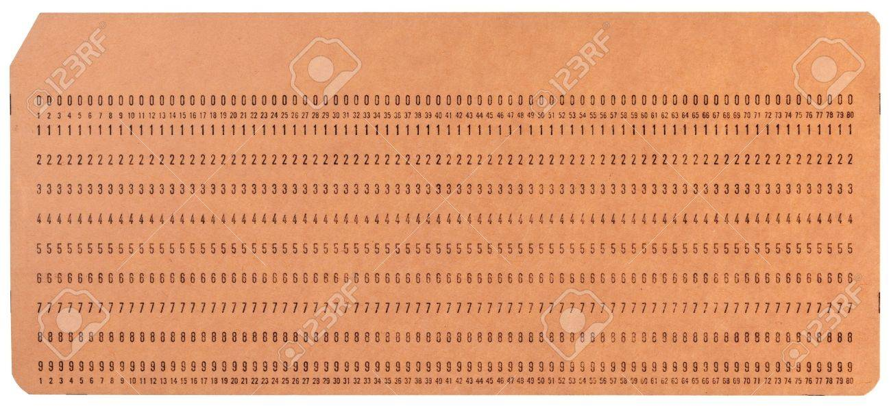 Vintage Unused Computer Punch Cards Used For Programming And Stock - punch cards