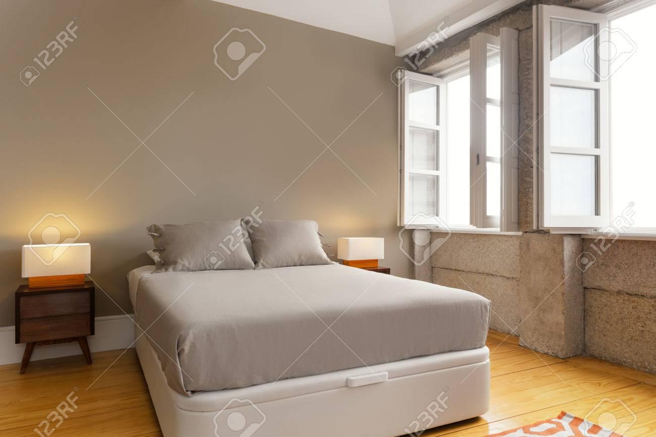 Fußboden Schlafzimmer ~ Schlafzimmer fußboden innen modernes haus schlafzimmer stockbild