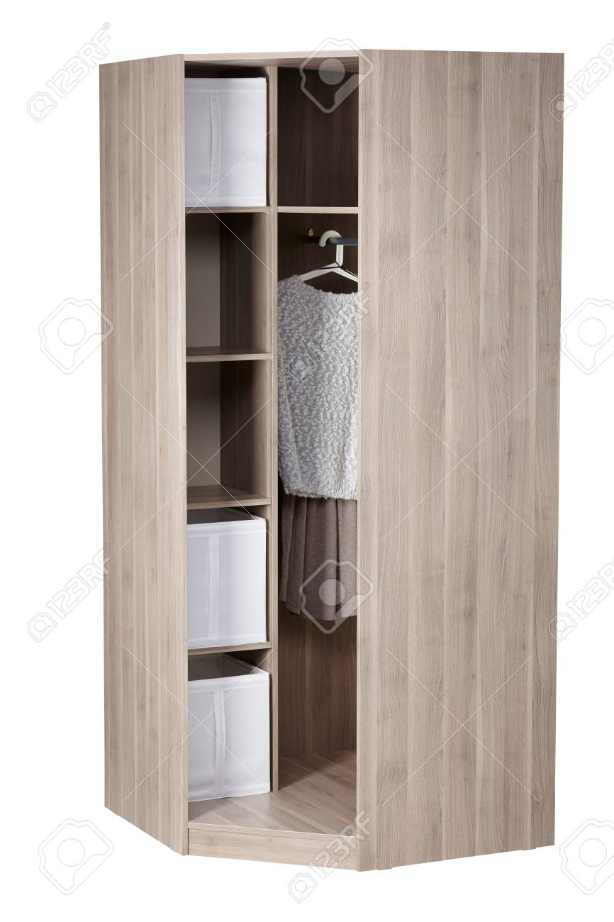 Corner Wardrobe Corner Wardrobe Isolated On White Background Include Clipping