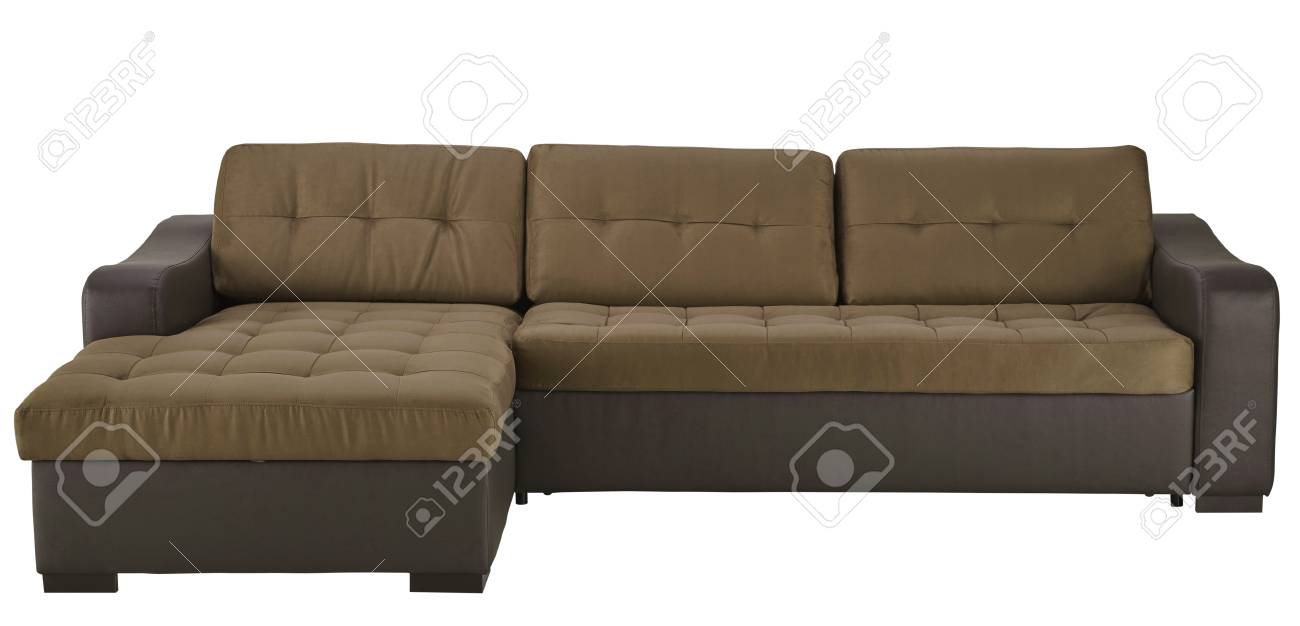 Leder Ecksofa Stock Photo