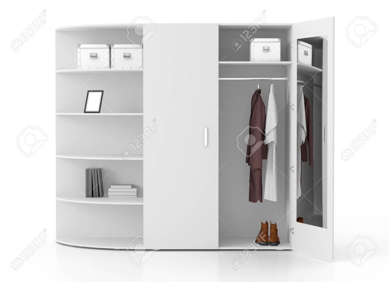 Spiegel Garderobe Stock Photo