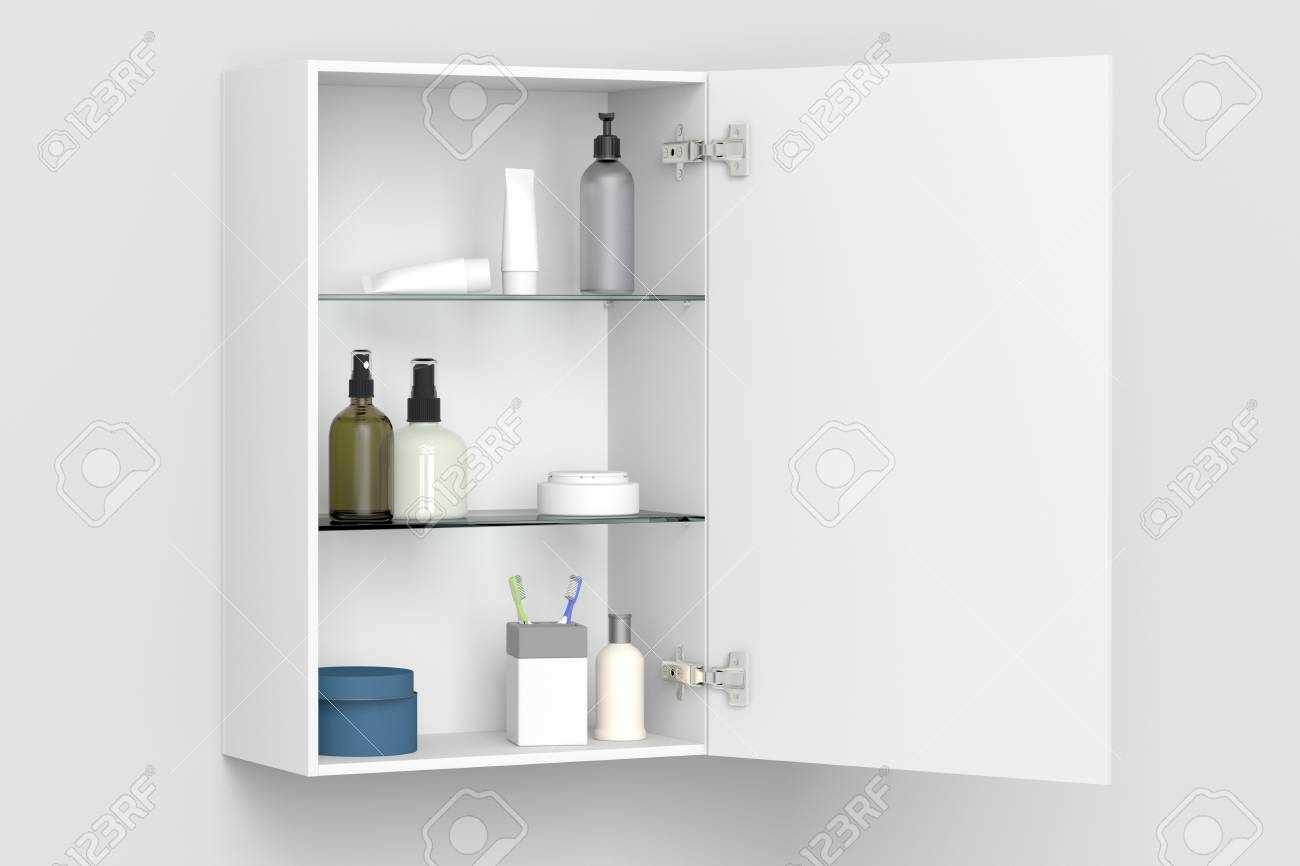 Open Cabinet Stock Illustration