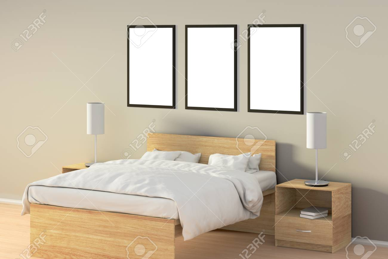 Schlafzimmer Poster Stock Photo