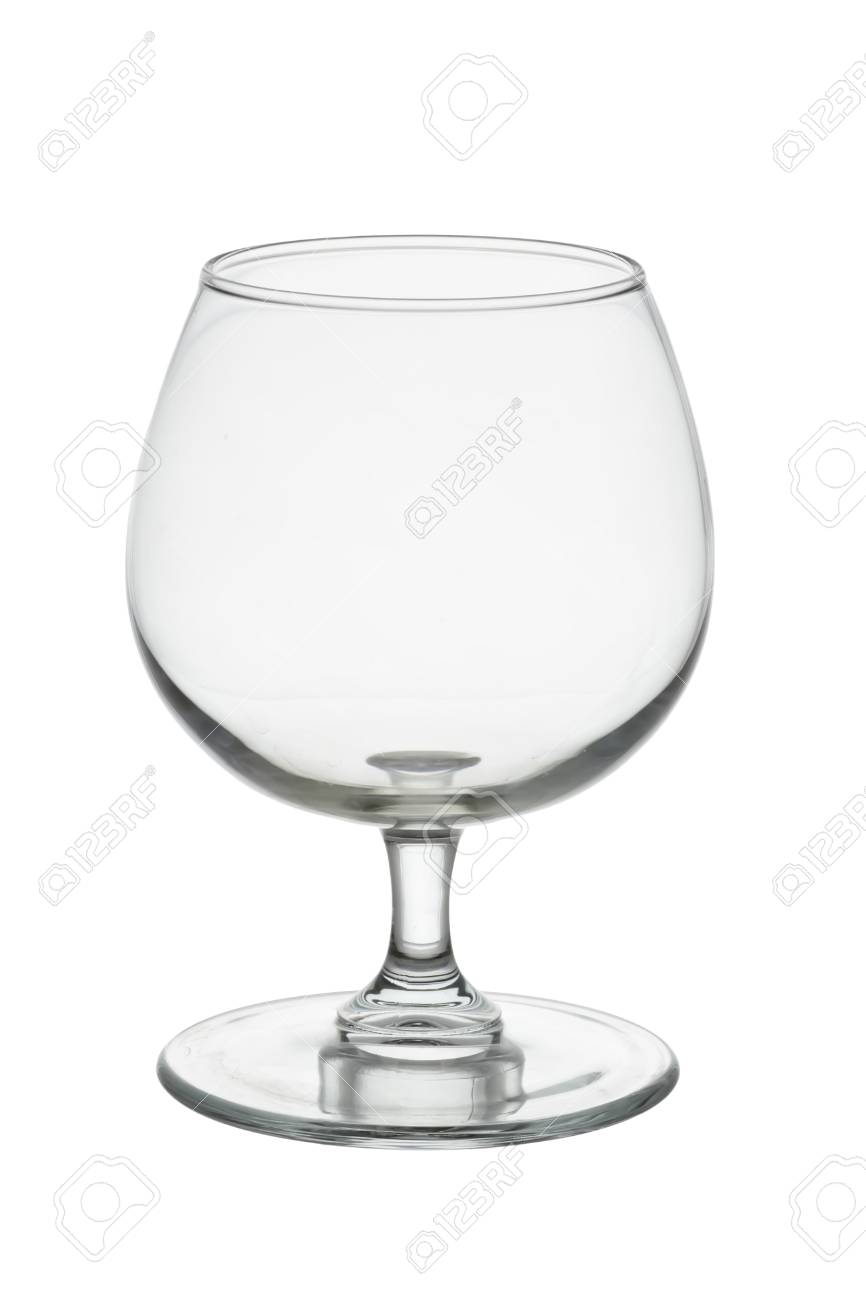 Wisky Glas Empty Whisky Glass Isolated On White Background With Clipping