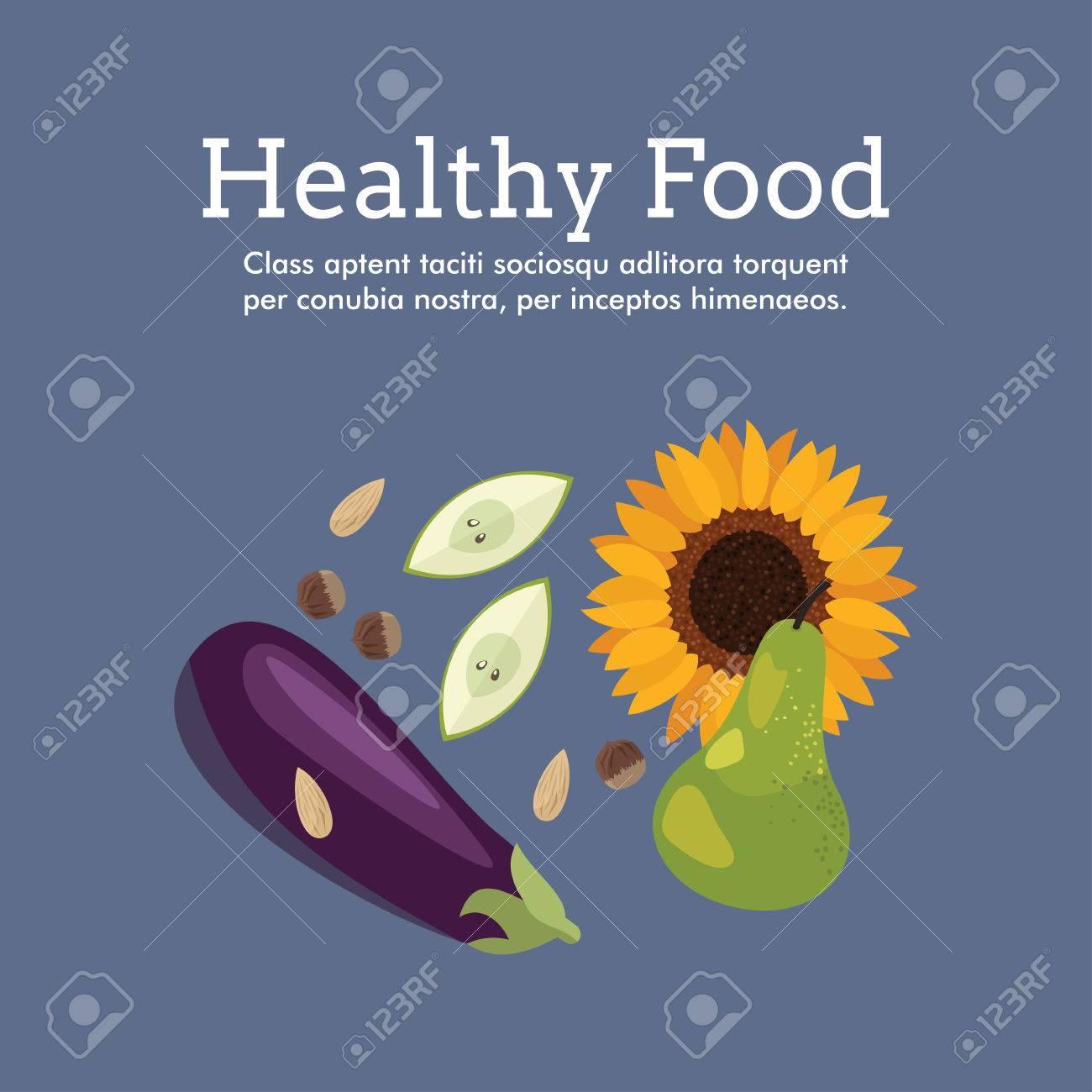 Poster design health -  Poster Design Healthy Food Stock Vector Download