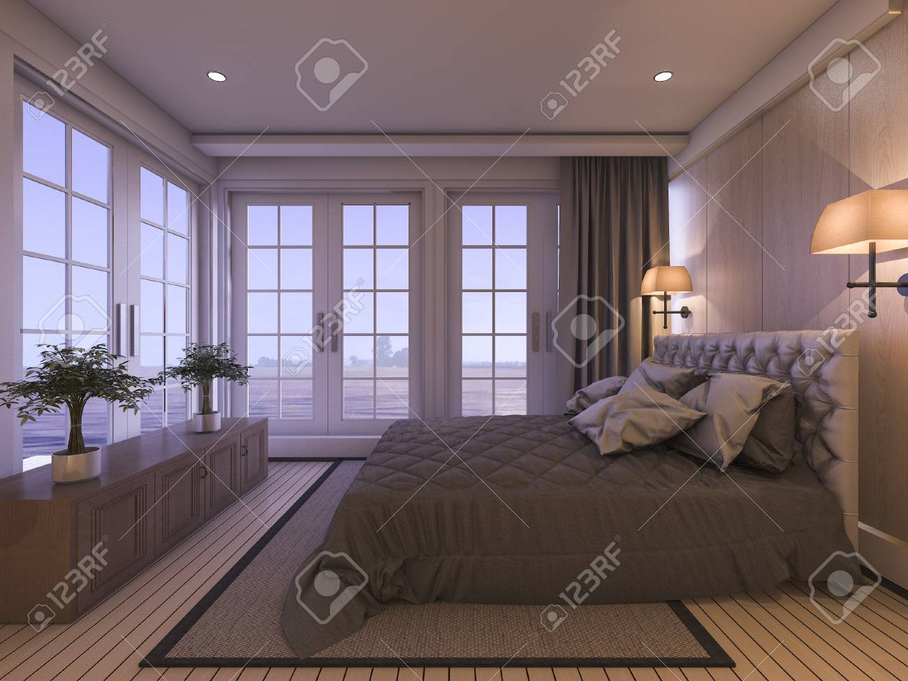 Schlafzimmer Pflanze Stock Photo
