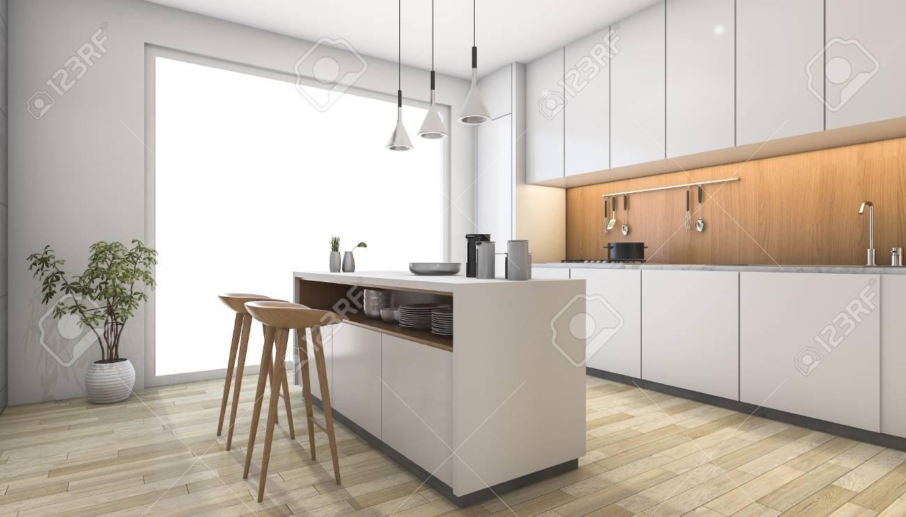 Holz Bar Küche | Hohe Rückenlehne In Weißem Leder Polsterung Moderne ...