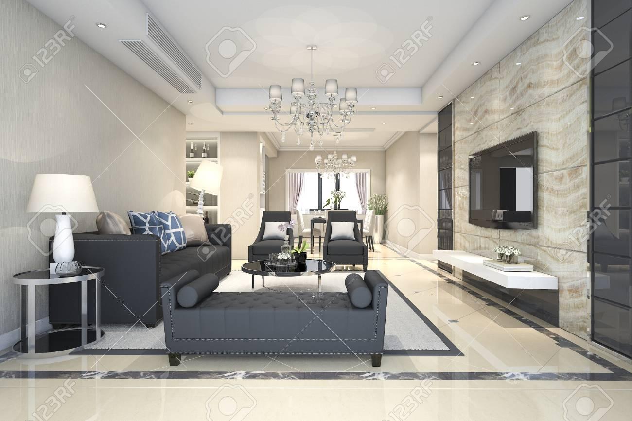 Salon Moderne Luxe