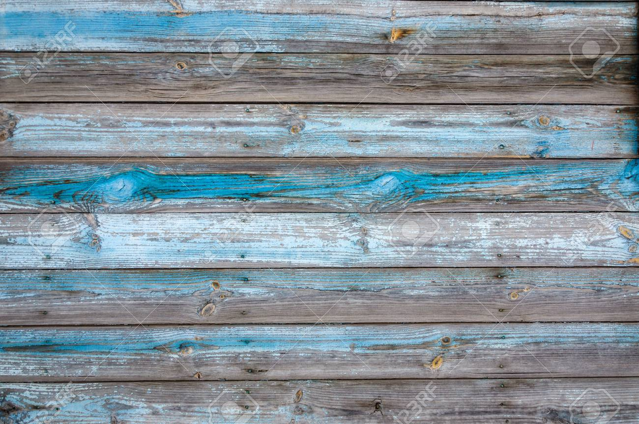 Holzvertäfelung Shabby Texture Horizontal Wood Cladding House With Shabby Blue Paint