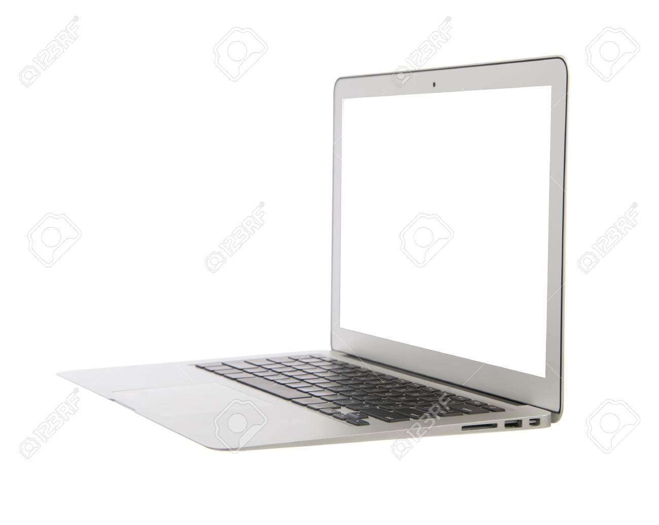 Weiße Laptops Stock Photo