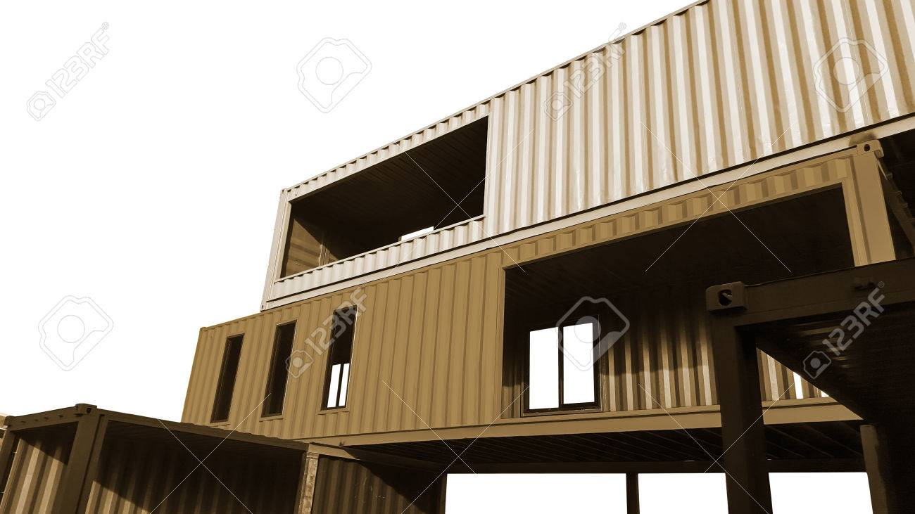 Container Wohnhaus Stock Photo