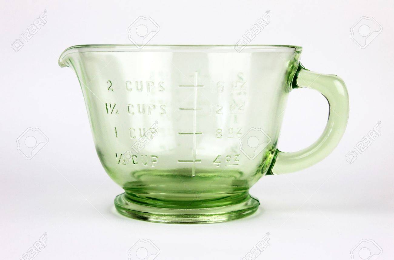 Glas Messbecher Stock Photo