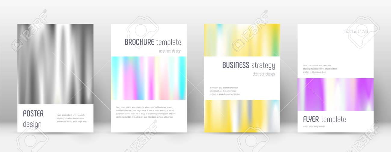 Flyer Layout Minimalistic Fresh Template For Brochure, Annual