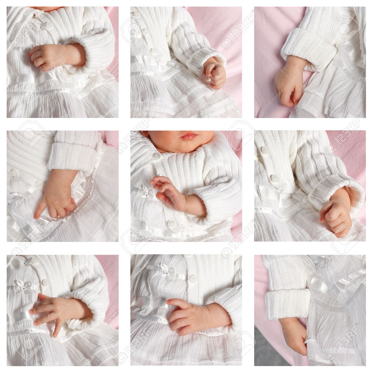 Collage Fotos Collage Of Nine Photo Of Baby Hands