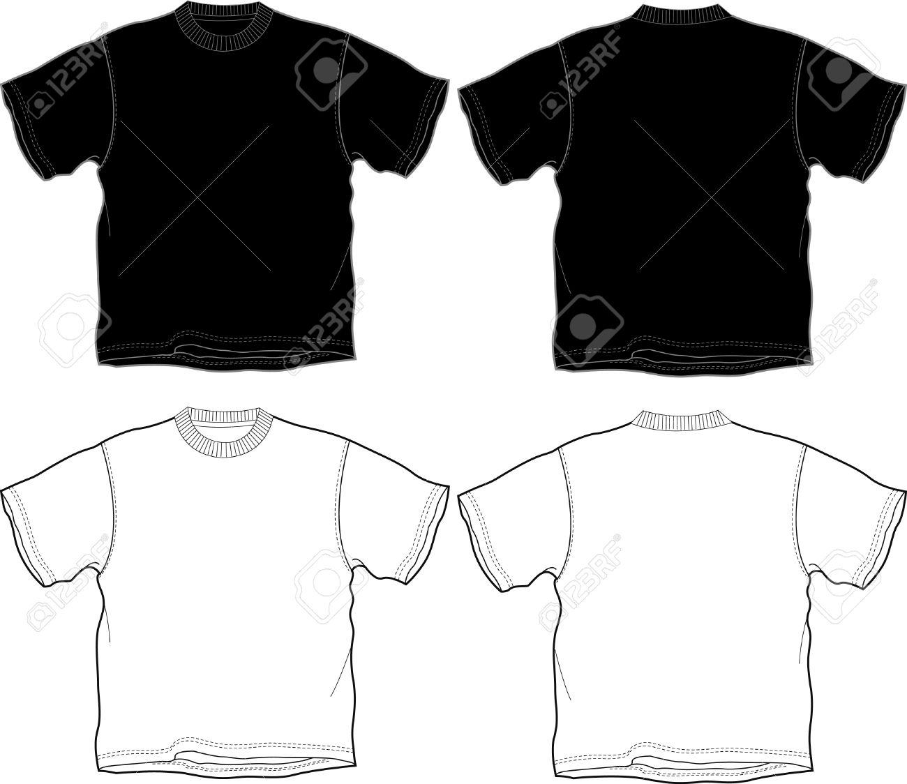 Black t shirt vector - Black T Shirt Outline T Shirt Outline Stock Vector 4381305 Download