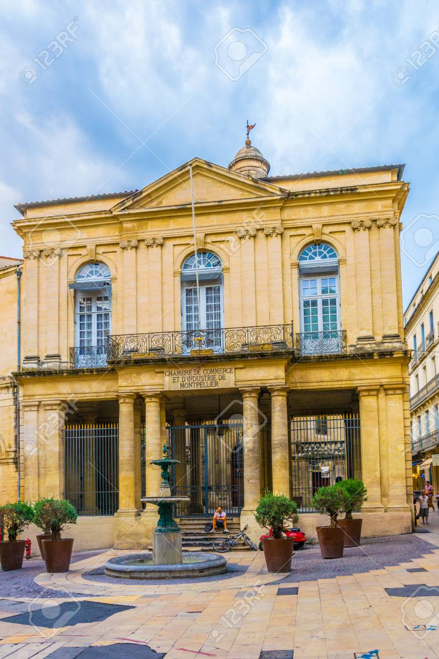Facades Of Houses In The Old Center Of Montpellier France Stock Photo Picture And Royalty Free Image Image 107334876