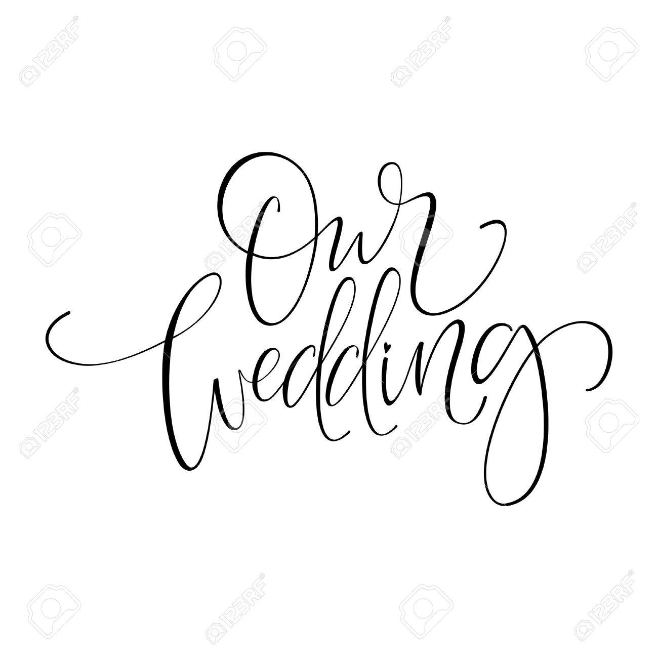 Wedding Calligraphy A Guide To Beautiful Hand Lettering Our Wedding Original Custom Hand Lettering Handmade Calligraphy
