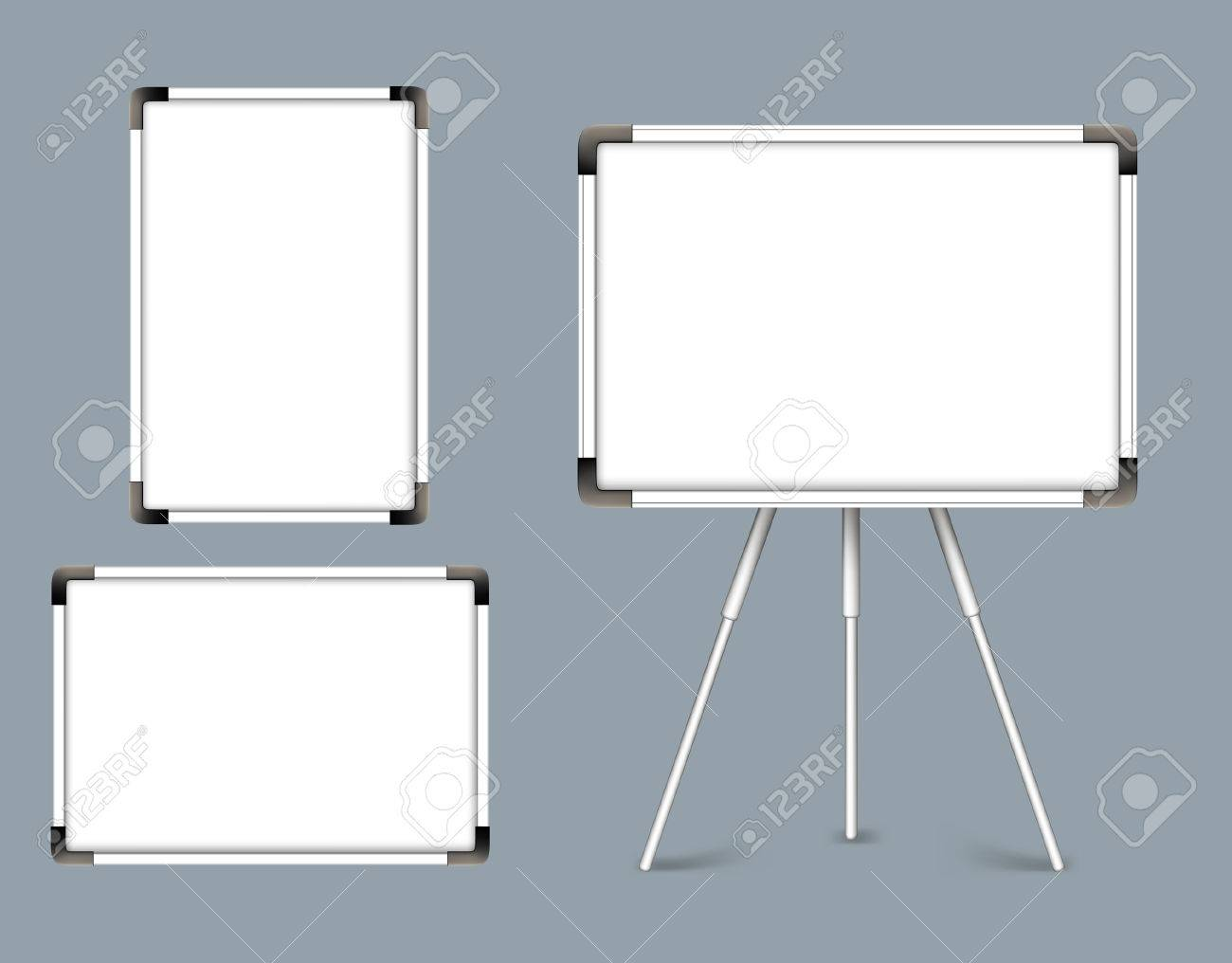 Whiteboard Ständer Stock Photo