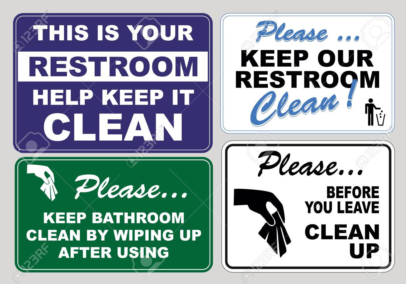 Keep It Clean Set Of Clean Sticker Sign For Plant Site Outdoor Please Do Not