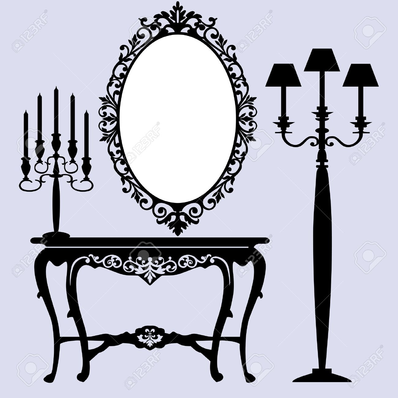 Antique chair silhouette - Download