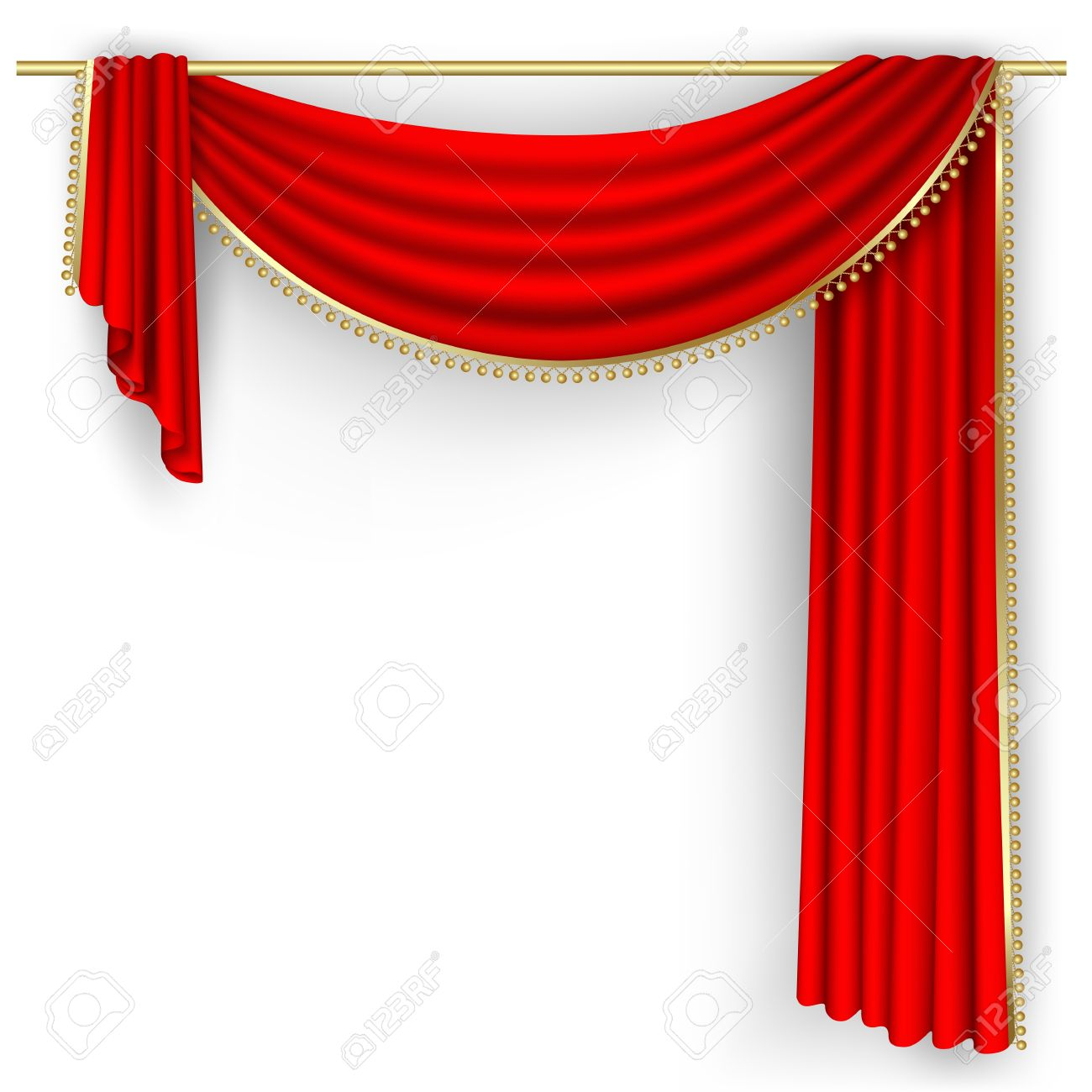 Stage curtain theater stage with red curtain illustration