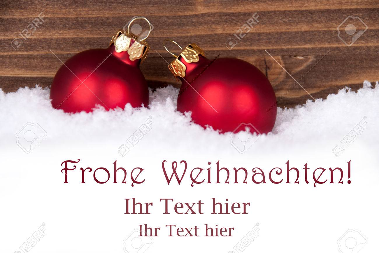 Frohe Weihnachten Frohe Weihnachten German Christmas Greetings Which Means Merry