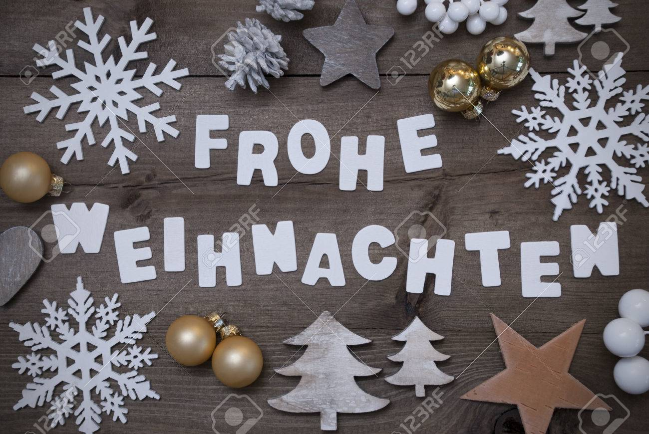 Frohe Weihnachten White Letters With German Frohe Weihnachten Means Merry Christmas