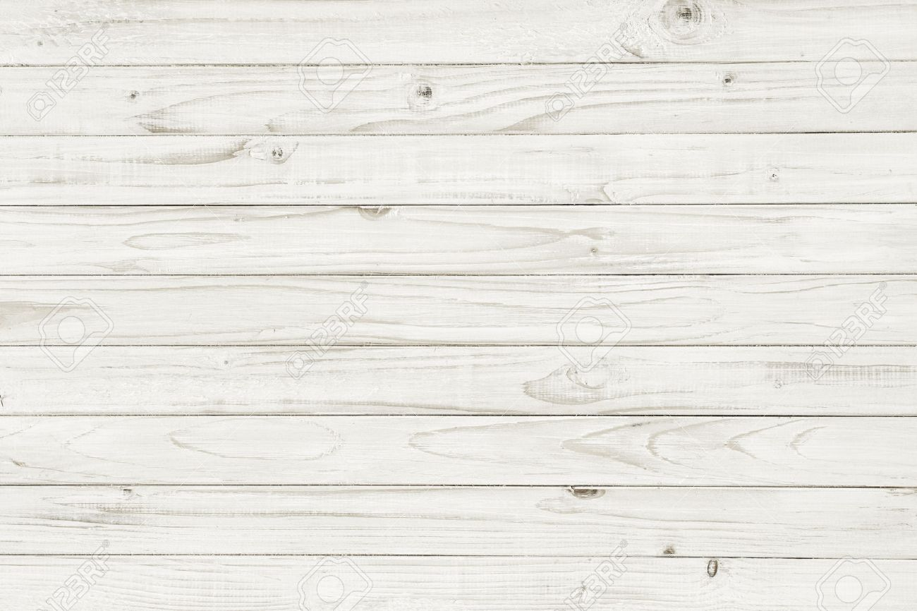 Vintage white wooden table top view wood background stock photo 34787409