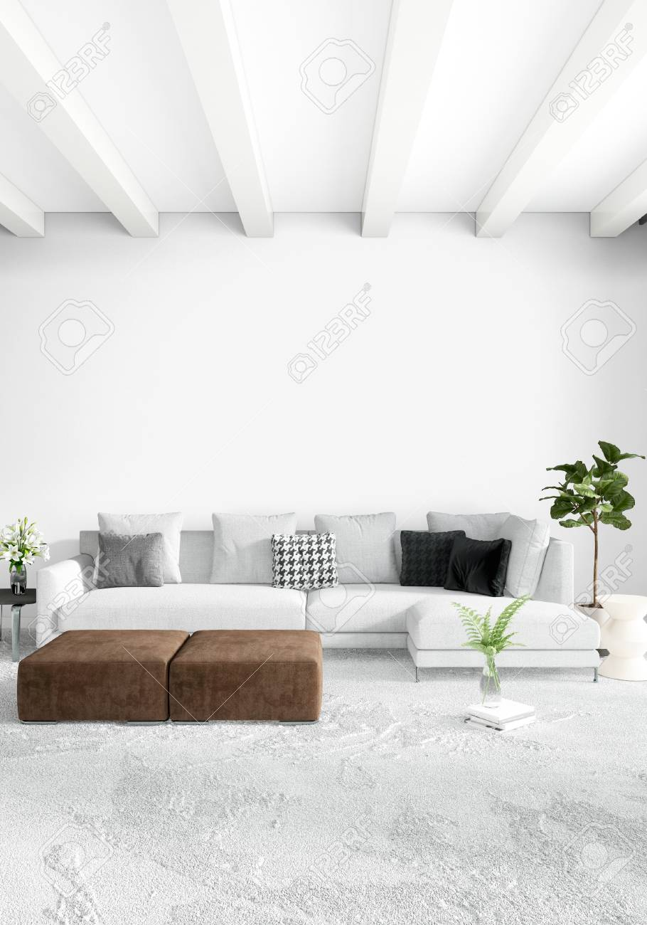 Divano Design Minimal White Bedroom Minimal Style Interior Design With Wood Wall And