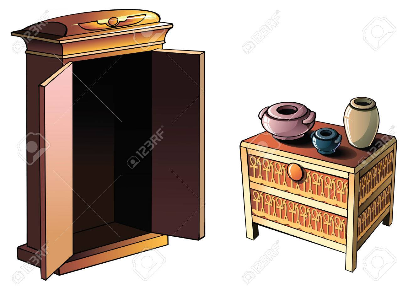 Ancient egyptian furniture -  Ancient Egyptian Furniture And Pottery Vector Stock Vector Download