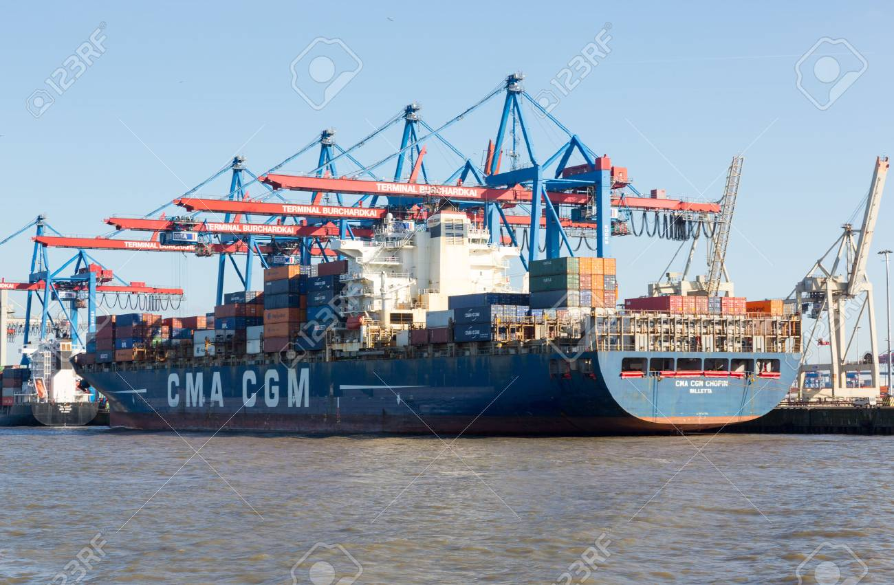 Gateway Hamburg Cma Cgm Container Ship In The Port Of Hamburg Known As