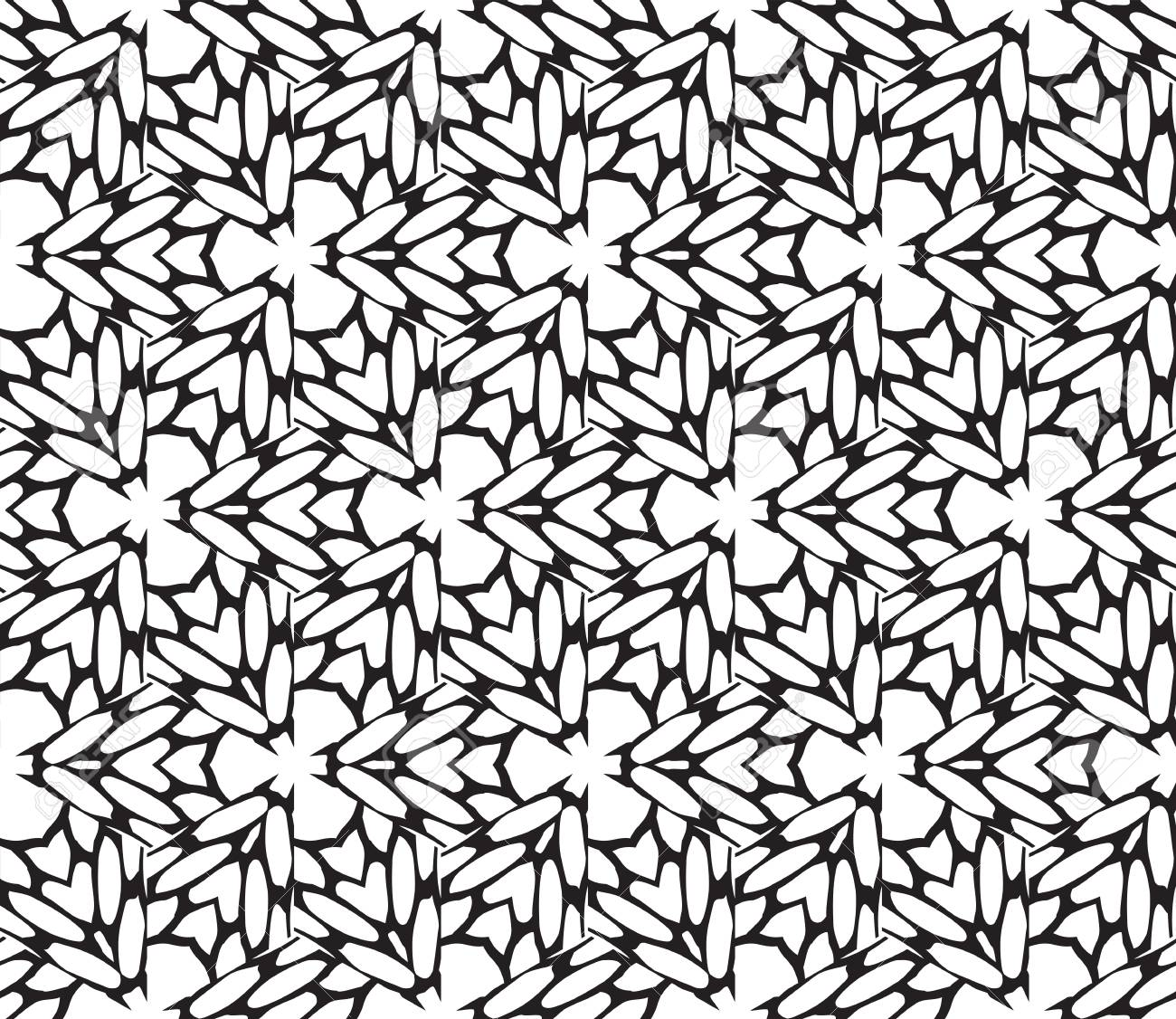 Black And White Illustration Abstract Floral Pattern Geometry Royalty Free Cliparts Vectors And Stock Illustration Image 100073227