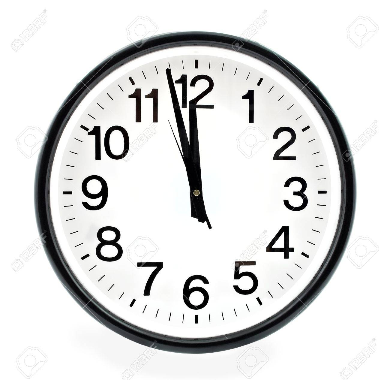 Black Wall Clock Black Wall Clock Two Minutes To Twelve