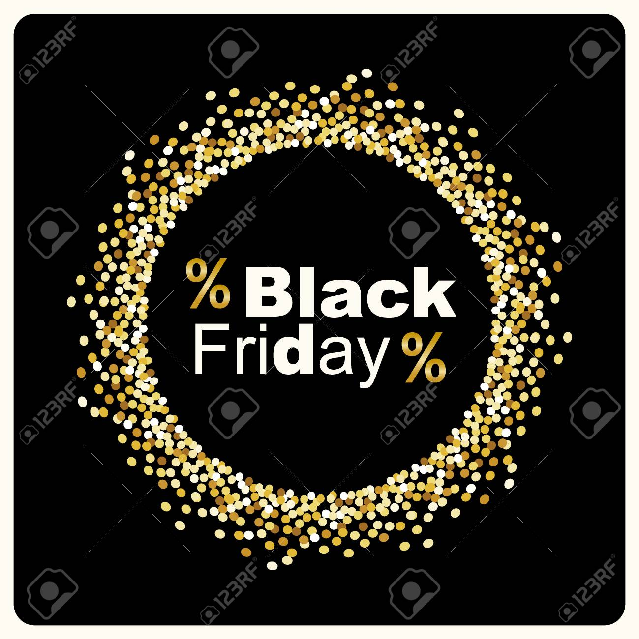 Luxury Black Friday Background With Gold Glitter Confetti Frame Royalty Free Cliparts Vectors And Stock Illustration Image 88329597