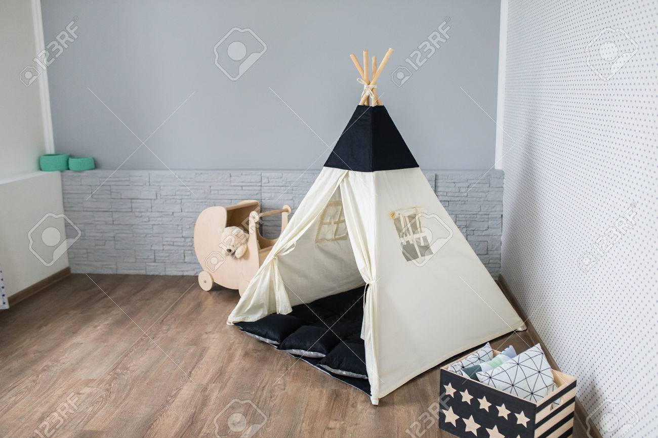 Teepee Kids Light Playroom For Kids With Teepee Tent