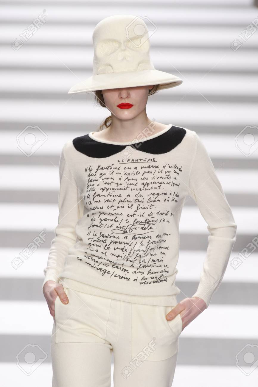 Pavillon Fedora Paris France March 08 A Model Walks The Runway During The
