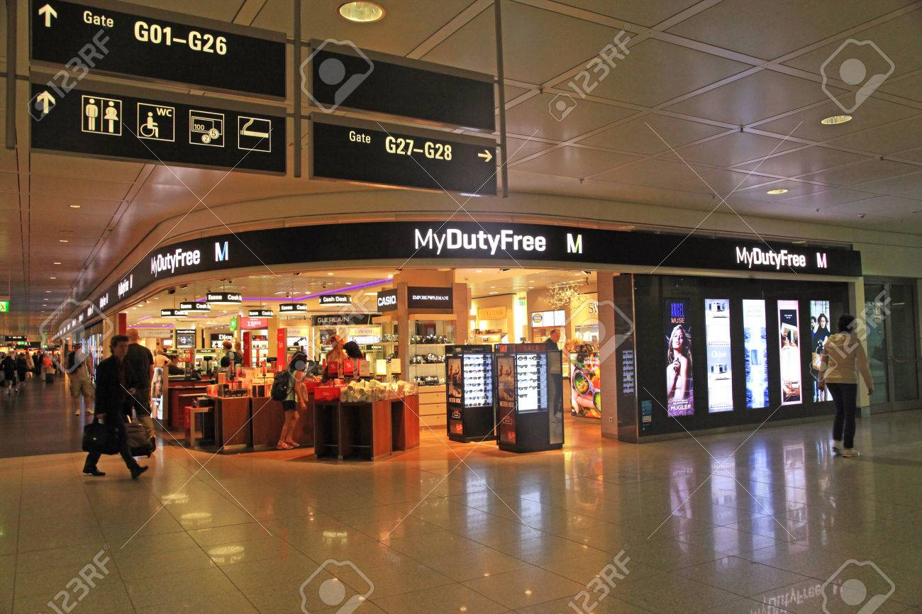 Munich Germany July 25 2016 Duty Free Shop In Munich International Stock Photo Picture And Royalty Free Image Image 65921794