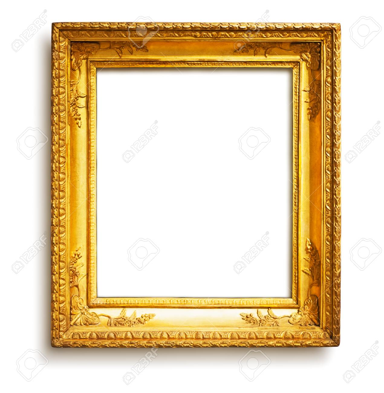 Gold Rahmen Vintage Gold Frame With Shadow On White Background, Clipping.. Stock Photo, Picture And Royalty Free Image. Image 24190344.