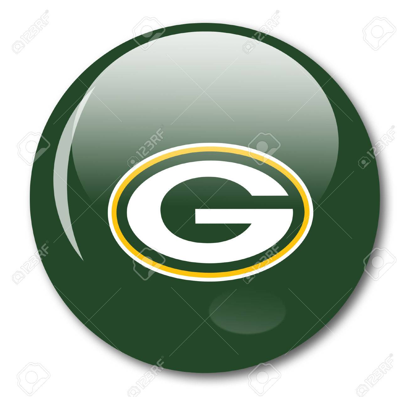 Frame For Green Bay Packers Stock Certificate - Green bay packers icon stock photo 38298228