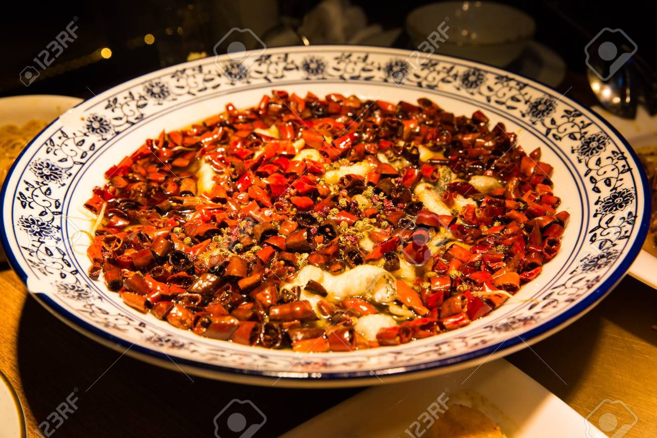 Original Szechuan Küche Stock Photo