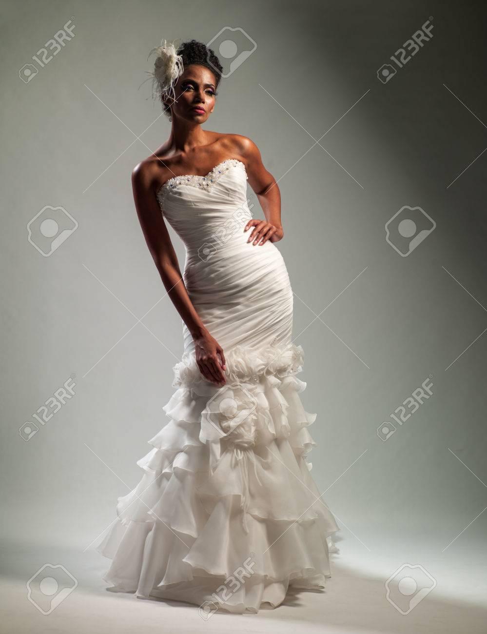 royalty free stock photos black woman wedding dress image african american wedding dresses Black woman in wedding dress