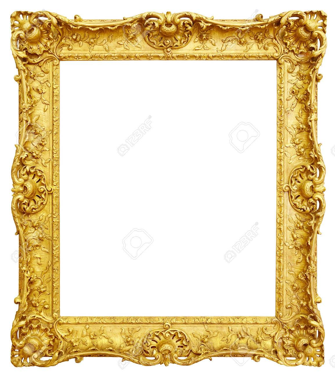 Gold Rahmen Gold Vintage Frame Isolated On White Background Stock Photo, Picture And Royalty Free Image. Image 48507073.