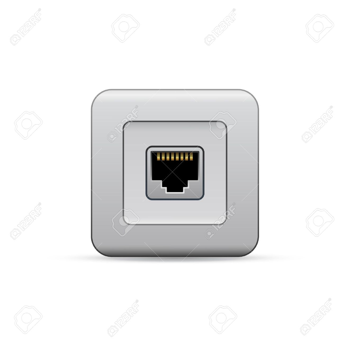 Port Network Network Ethernet Port Network Router Or Switch Icon